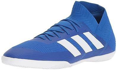 d6f7798b3554 adidas Men's Nemeziz Tango 18.3 Indoor Soccer Shoe, White/Football Blue, ...