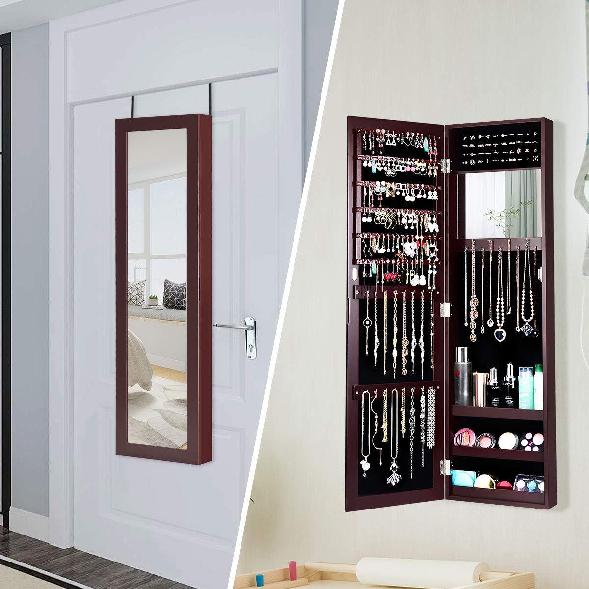Amazon.com: Giantex - Armario de pared con espejo ...