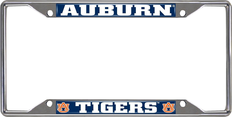 FANMATS  14787  NCAA Auburn University Tigers Chrome License Plate Frame