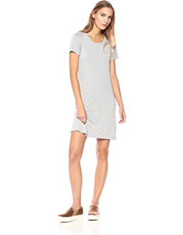 ec393aa7bd02 Daily Ritual Women's Jersey Short-Sleeve Scoop Neck T-Shirt Dress