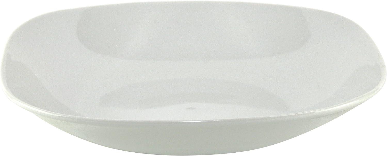 Van Well Atrium Lot de 4/assiettes creuses Assiette /à salade /él/égant Porcelaine 20,5/x 20,5/cm 4/assiettes creuses