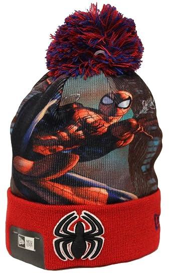 e83cab170 Amazon.com: New Era All Out Spider-man Pom Adult & Teen Beanie: Beauty