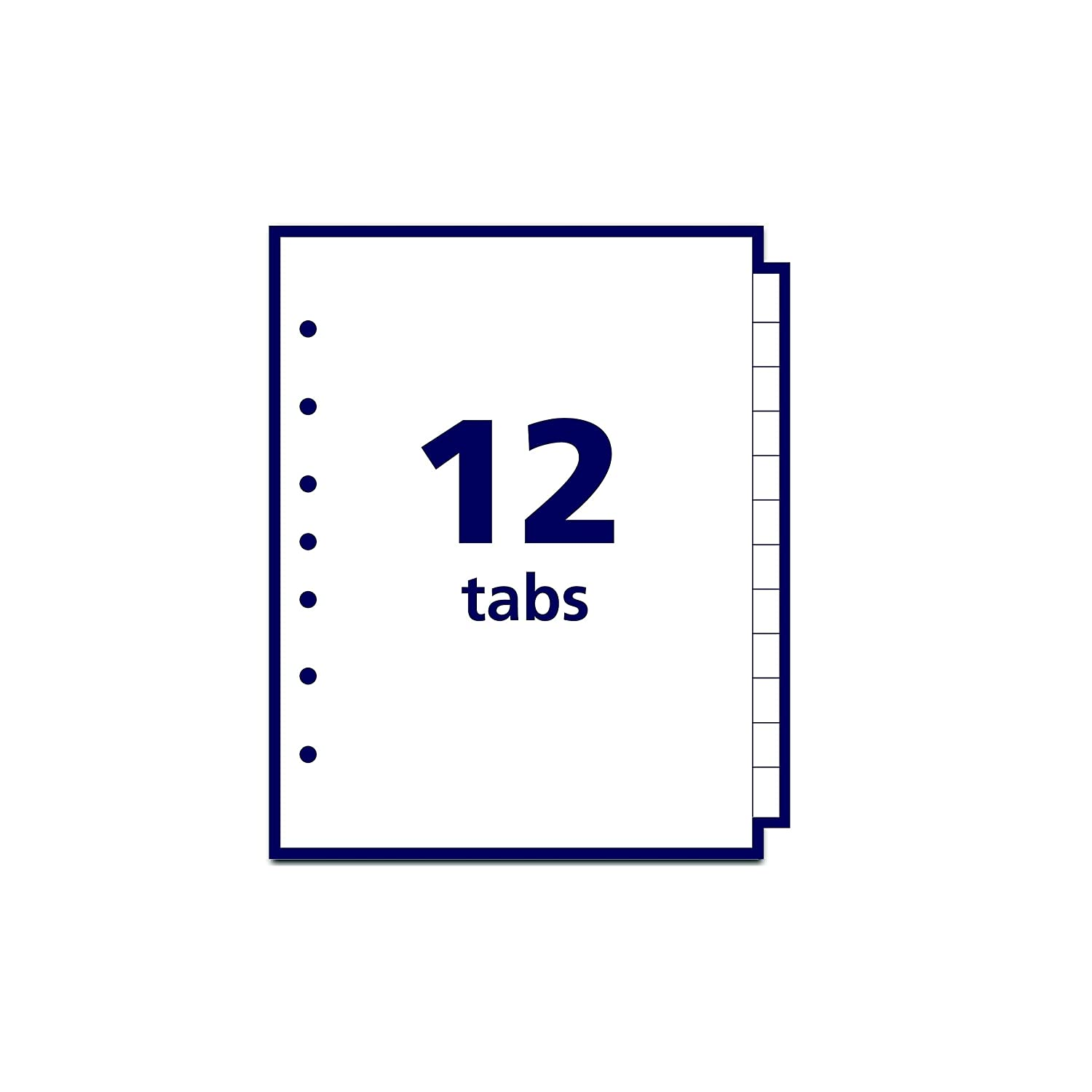 Avery Mini Preprinted Dividers with A-Z Tabs 5.5 x 8.5-Inches 12-Tab Set 11313