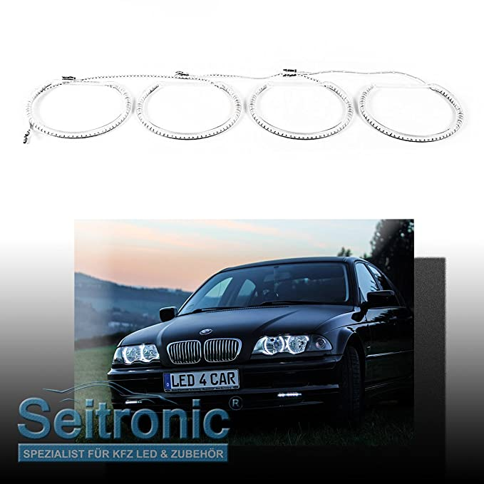 Seitronic® 4x SMD LED Angel Eyes mit Xenon Scheinwerfer - Standlicht ...