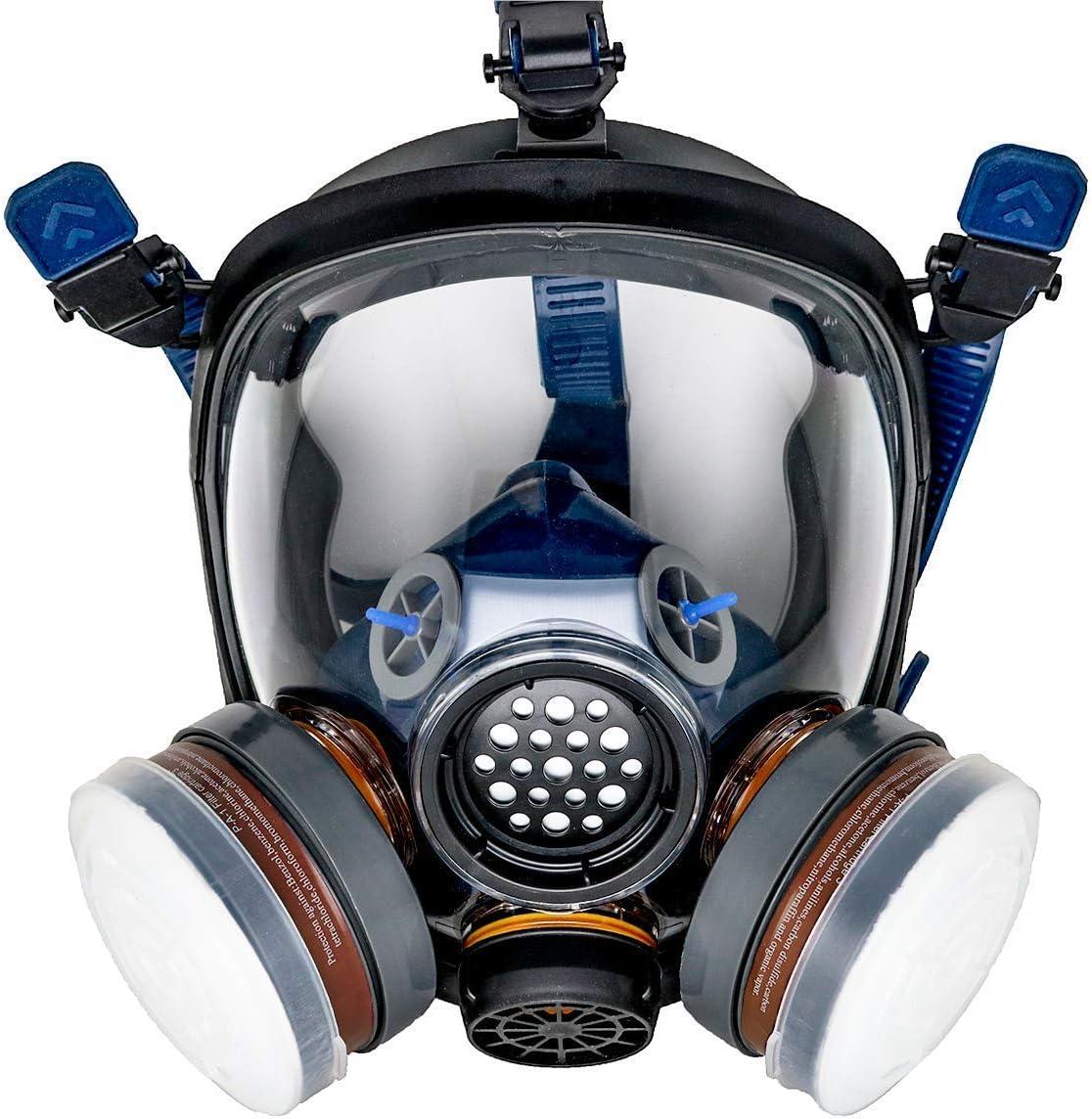 PT-100 Full Face Gas Mask & Organic Vapor Respirator