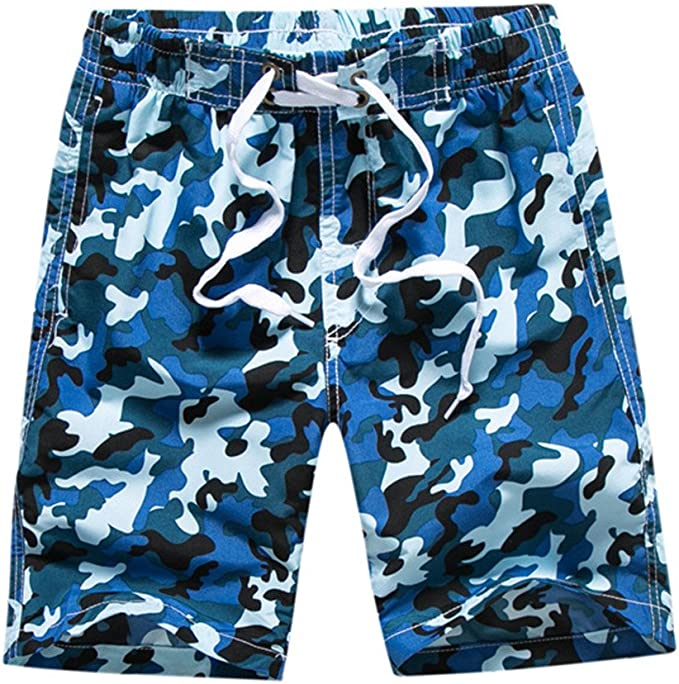 WESIZAR Mens Summer Short Swim Trunks Casual Quick Dry Boardshorts