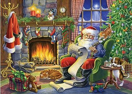 Amazon.com : Naughty or Nice Christmas Card - Set of 15 : Greeting ...