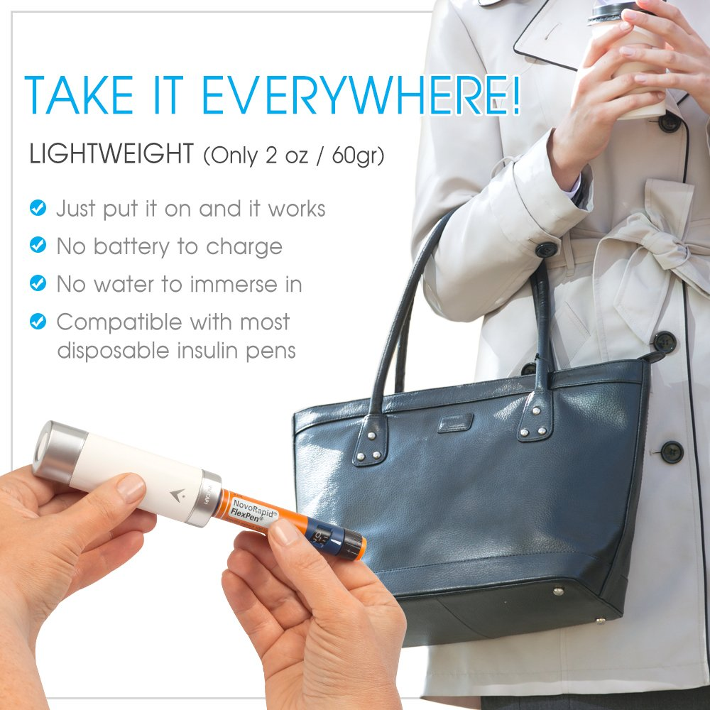 Small Reusable Insulin Cooler Pen-Cap by TempraMed | Vivi CAP1 for Sanofi SoloStar: Lantus, Apidra | Keeps Insulin Cool | for Daily use and Travel | FDA Registered by VIVI CAP (Image #6)
