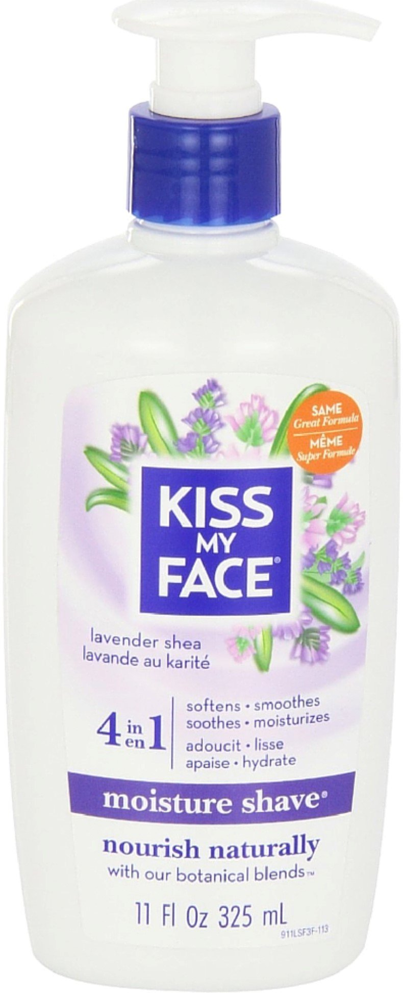 Kiss My Face Moisture Shave, Lavender & Shea 11 oz (Pack of 7)
