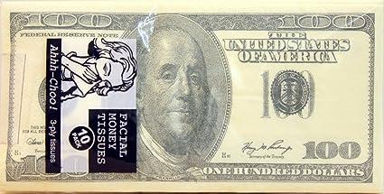 amazon com 100 dollar bill printed napkins tissues 3 ply tissues