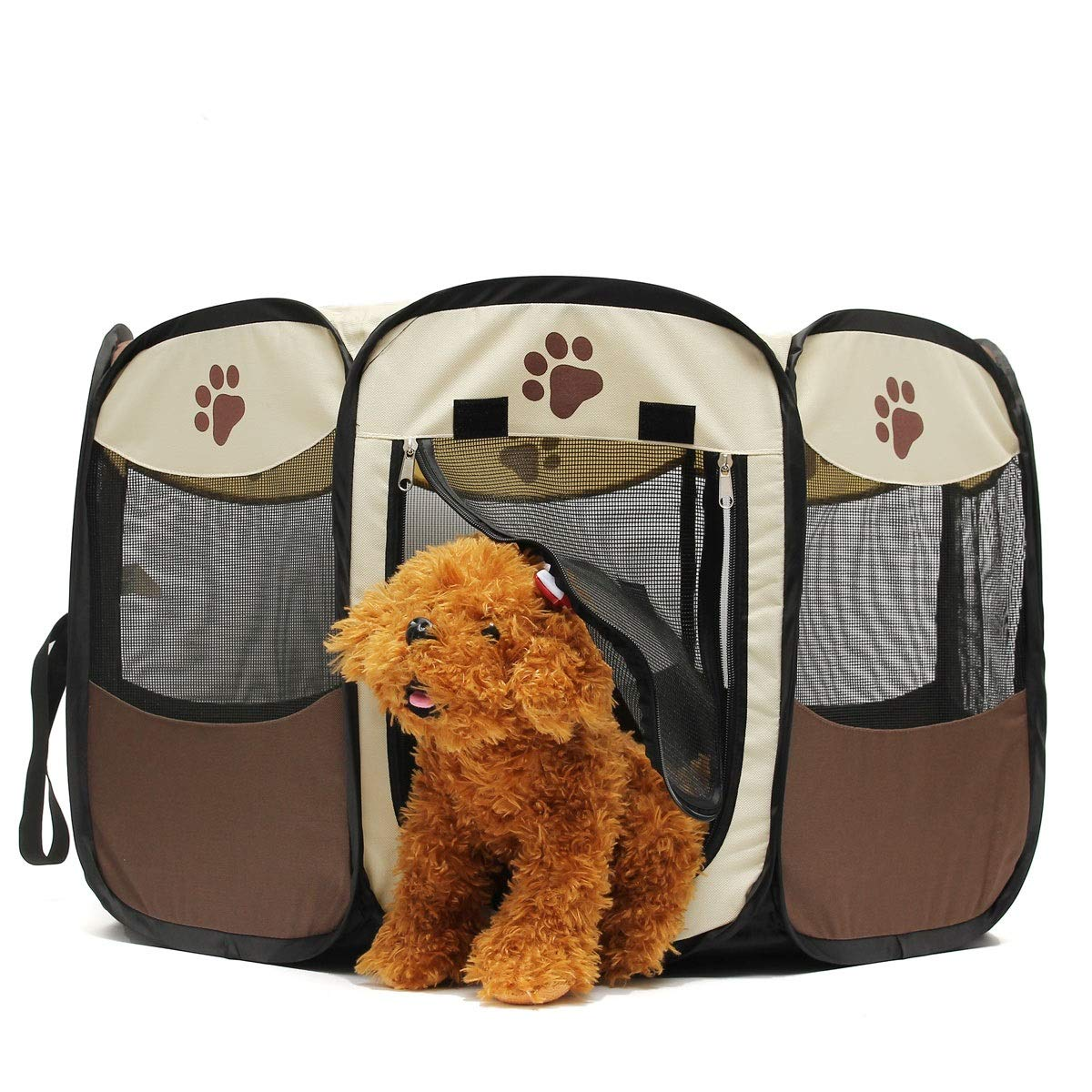 Fishagelo 45cm Pet Dog Cat Playpen Tent Portable Exercise Fence Kennel Cage Crate Fishagelo