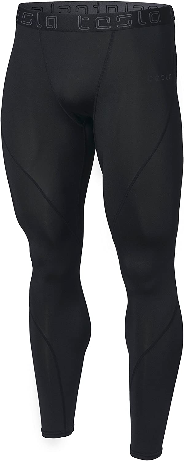TSLA Men's Compression Pants Running Baselayer Cool Dry Sports Tights