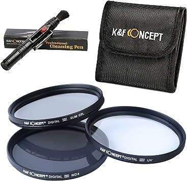 K/&F Concept 77mm UV CPL ND4 Densidad Neutra ND Lente Filtro para Canon Nikon