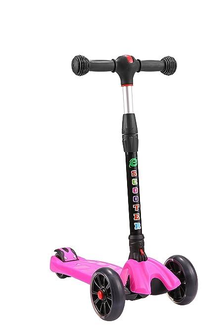 QSHS - Patinete para niños, 3 ruedas de poliuretano ...