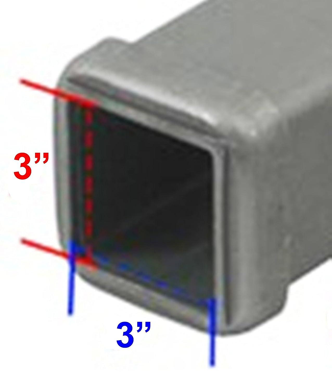 Upper Bound F-250 F-350 F-450 Super Duty 3 Black Trailer Hitch Cover Plug fits 3 Inch Receiver Opening