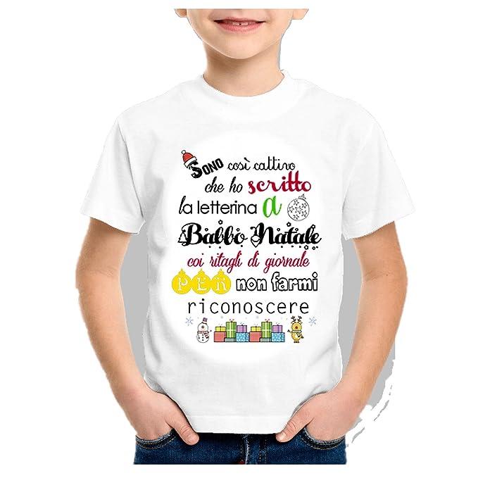 Lettera A Babbo Natale Divertente.B C T Shirt Maglia Bambino Natale Divertente Sono Cosi