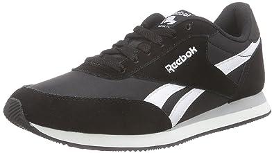 Reebok Royal CL Jogger 2, Zapatillas de Running Niños, Negro/Blanco/Gris