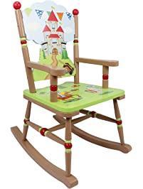 Fantasy Fields Knights U0026 Dragon Thematic Kids Wooden Rocking Chair |  Imagination Inspiring Hand Crafted U0026