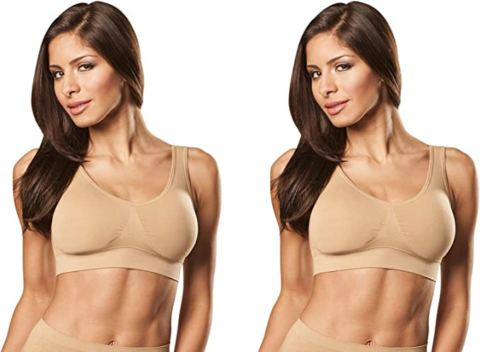 1 NEW NUDE AUTHENTIC GENIE BRA SIZE MED WITHOUT POCKET FOR PADS FREE SHIPPING