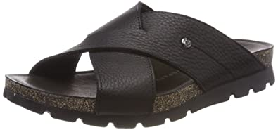Mens Salman Open Toe Sandals, Black, 8 UK Panama Jack
