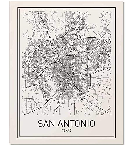 Map Of Texas San Antonio.San Antonio Map San Antonio Poster City Map Posters Texas City Texas Map San Antonio Modern Map Art Black And White Map Wall Art Texas Map
