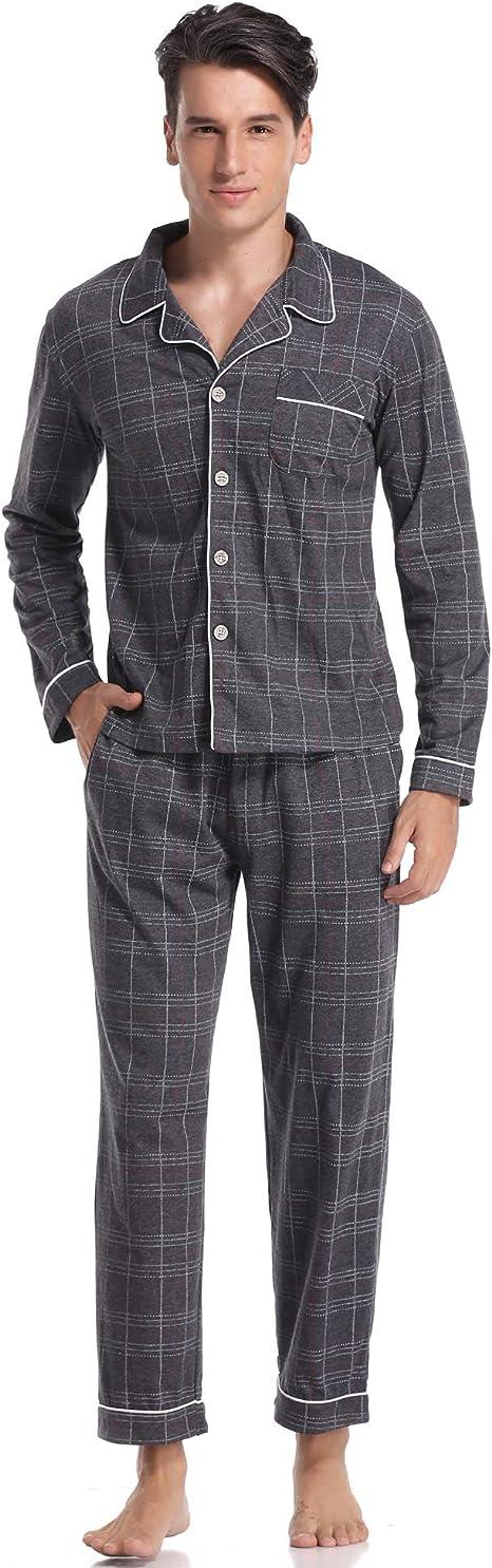 ARBLOVE Pijama Hombre Invierno Algodon 2 Piezas, Suave Cómodo Suelto y Agradable: Amazon.es: Ropa y accesorios