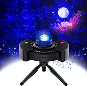 utipef Ceiling Star Projector w/Moon Stars LED Nebula Cloud for Adults Baby Kids Room/Game Room Theatre, 4 in 1 Laser Galaxy Projector with Bluetooth Music Speaker & Sky Lights for Bedroom