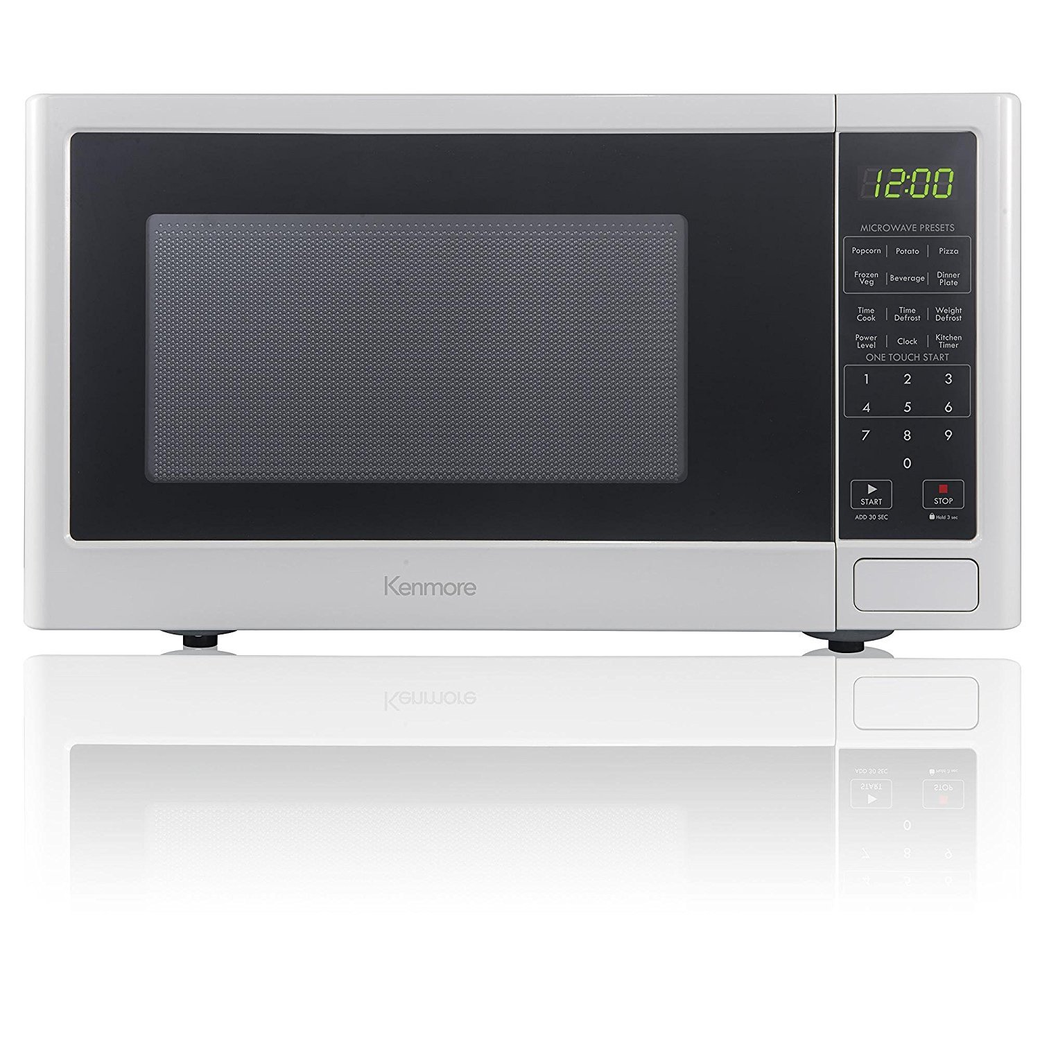 Amazon.com: Kenmore 0.9 cu. ft. Microwave Oven - White: Kitchen & Dining