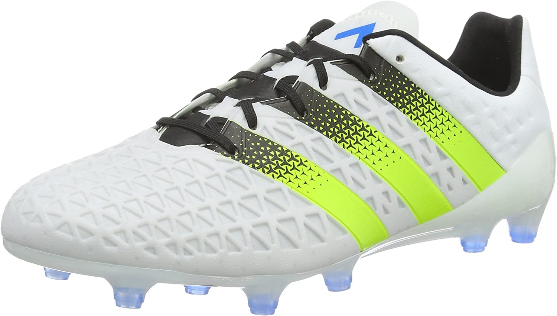 Weiß (Ftwr Weiß Semi Solar Slime Shock Blau) 40 EU adidas Herren Ace 16.1 Fg Ag Fußballschuhe
