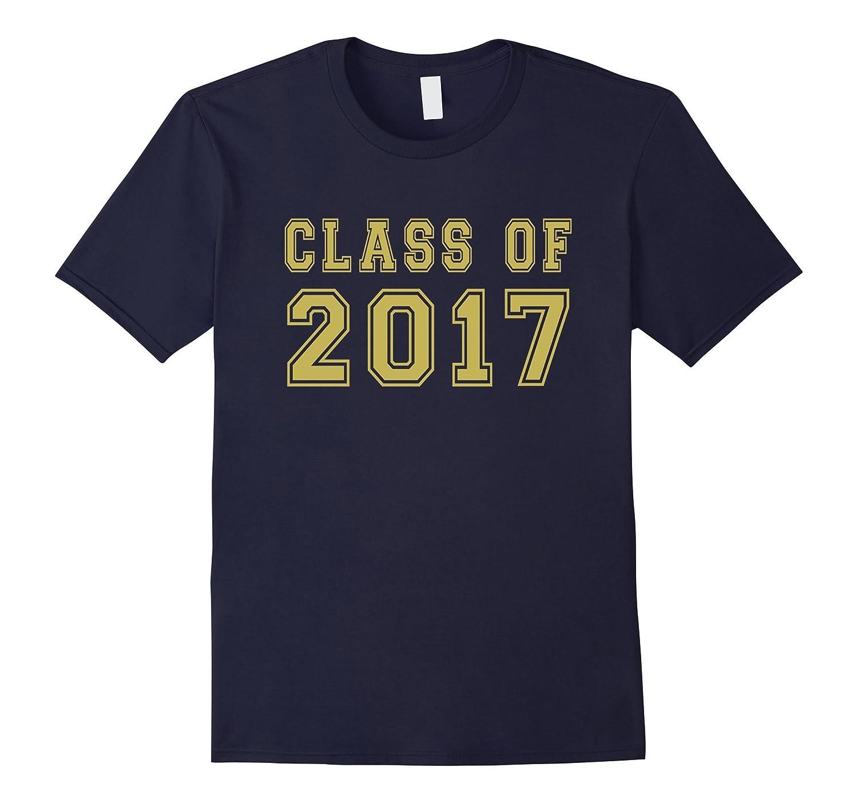 Class Of 2017 High School Graduation Date Gold T-Shirt-TH