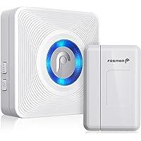 Fosmon WaveLink 51004HOM Wireless Door Open Chime (120M/400FT | 52 Tunes | 4 Volume Levels | LED Indicators) - 1 Magnetic Door Entry Alert Security Contact Sensor, 1 Wireless Doorbell Plugin Receiver