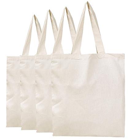 f443979b7c4 Amazon.com: BagzDepot Plain Canvas Tote Bags - 100% Cotton Fabric ...