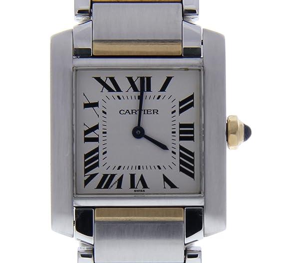 Cartier Tank Francaise Cuarzo Mujer Reloj 2301 (Certificado) de Segunda Mano: Cartier: Amazon.es: Relojes