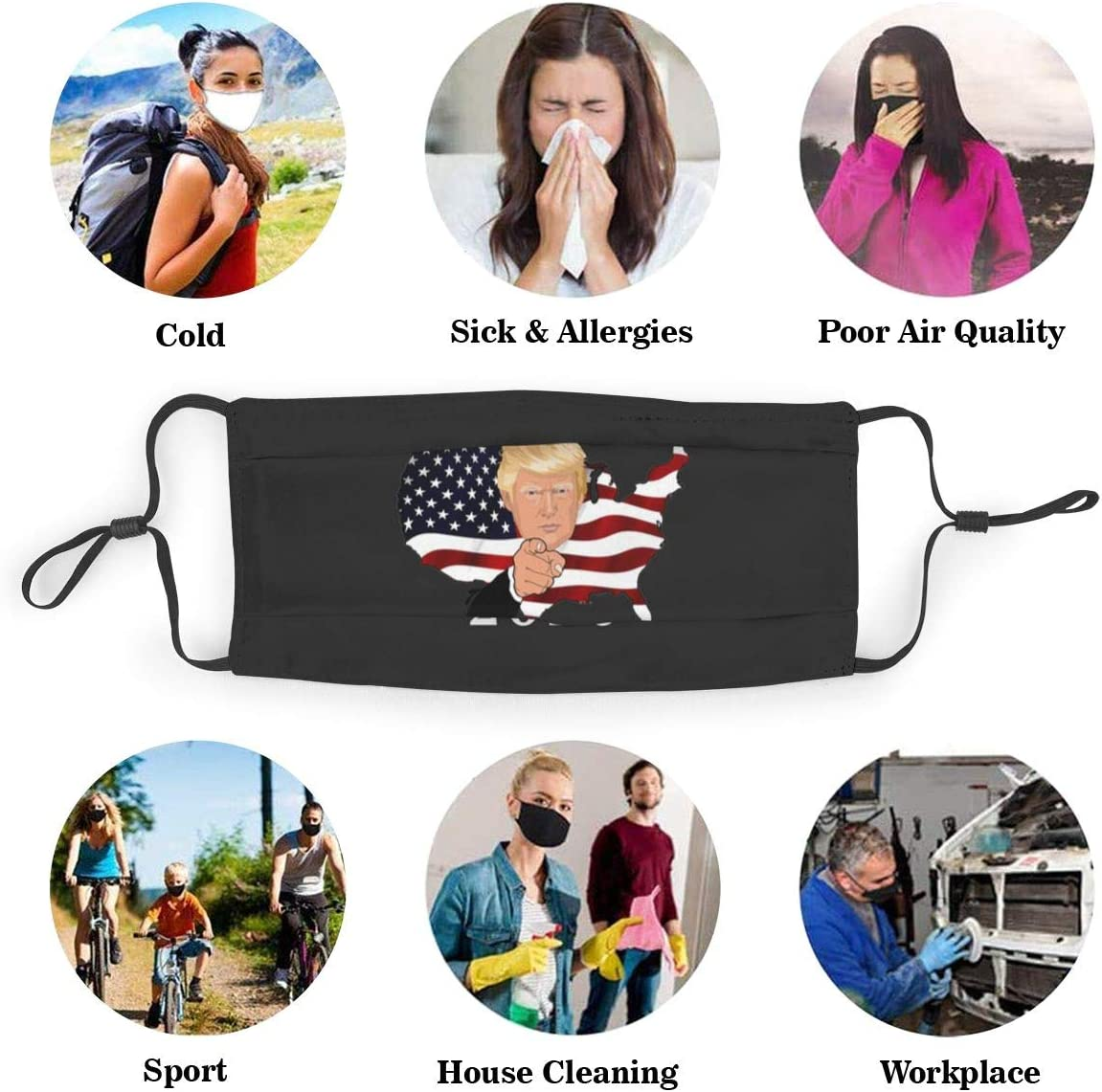 Donald Trump 2020 Personalized Mouth Sleeve Reusable Mouth Guard
