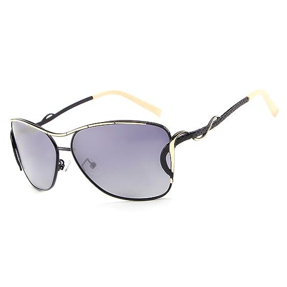 3b28769b37b4 HDCRAFTER Fashion Women UV400 Polarized Cat Eye Sunglasses Metal Frame