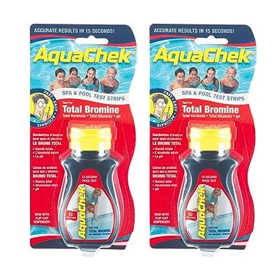 AquaChek 521253-02 Red Total Bromine Test Strips (2 Pack) : Garden & Outdoor