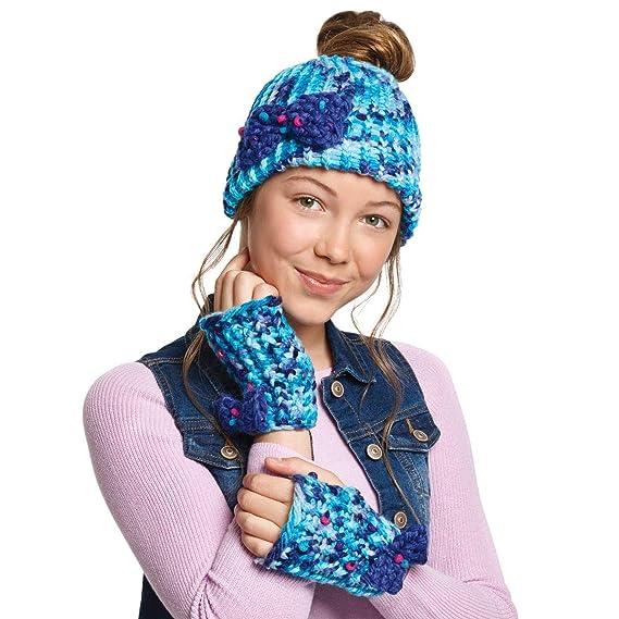 Amazon.com: Hágalo real: tejer: gorro Bun y guantes. Guías ...