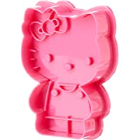 Sanrio Hello Kitty Body Shaped Baking Plastic Cookie Cutter Push and Print (STY77939)