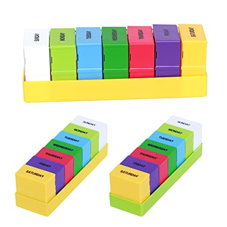 7 Day Tablet Medicine Holder Pill Box Dispenser Organiser Case Travel Uk Post Outstanding Features Business, Office & Industrial Office Equipment