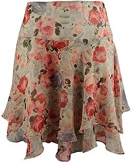 207a1db37 LAUREN RALPH LAUREN Women's Plus Size Multi Floral Georgette Skirt ...