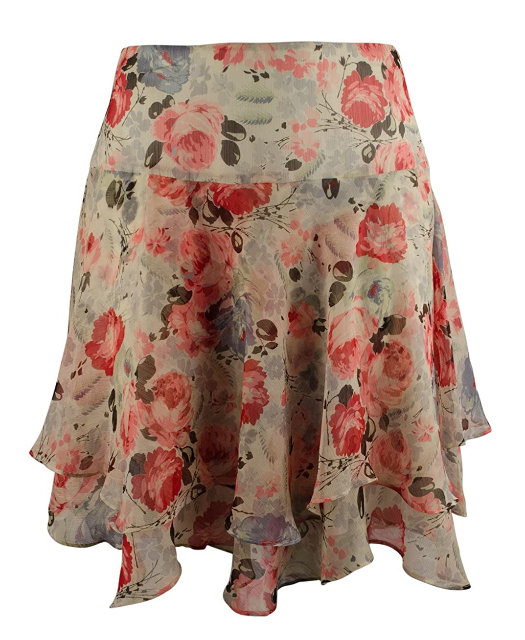Lauren Ralph Lauren Women's Plus Size Floral Print Tiered Skirt