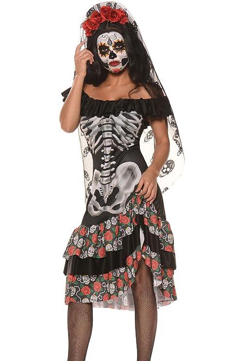 disfraz para despedida de soltera, Halloween, de novia esqueleto ...