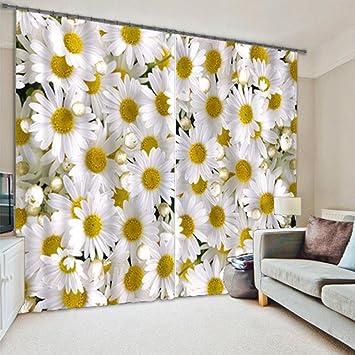 LINAG Vorhänge 3D Wohnzimmer Gardinen Schlafzimmer Fensterdekoration  Schattierungs 3D Visuelle Effekte Drucken Polyester Vorhang Verdunkelung  Blickdichte