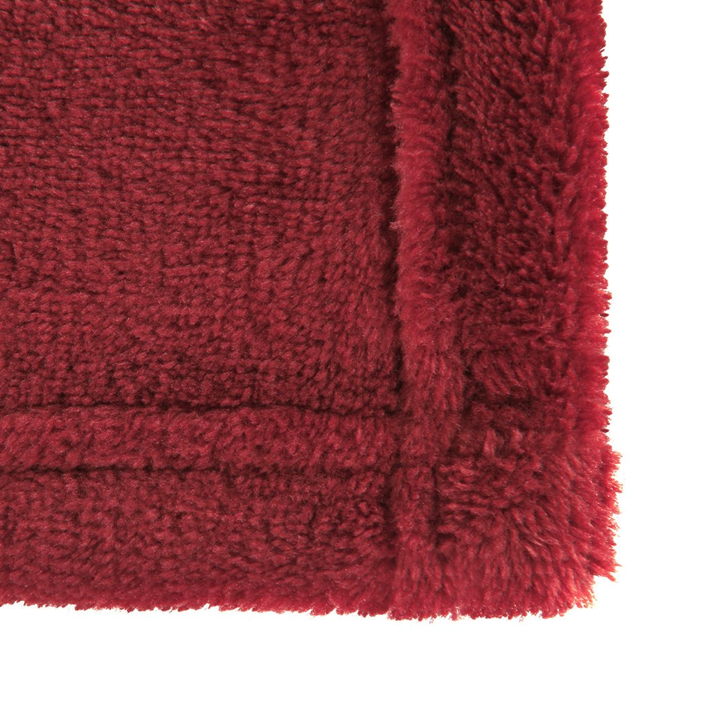 Wrinkle Resistant 100/% Polyester Microfiber 150 cm x 200 cm LANGRIA Soft Fluffy Flannel Blanket Throw for Sofa Bed Winter Travel Anti-Fade White