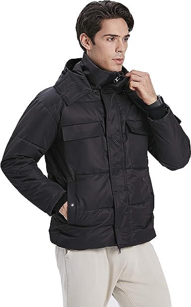 Amazon Com Tittallon Men S Active Jackets Hoody Waistline Coats Puffer Insulated Outwear Winter Black Clothing