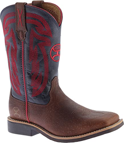 Kids Hooey SQ Toe Peanut/Blue Boots