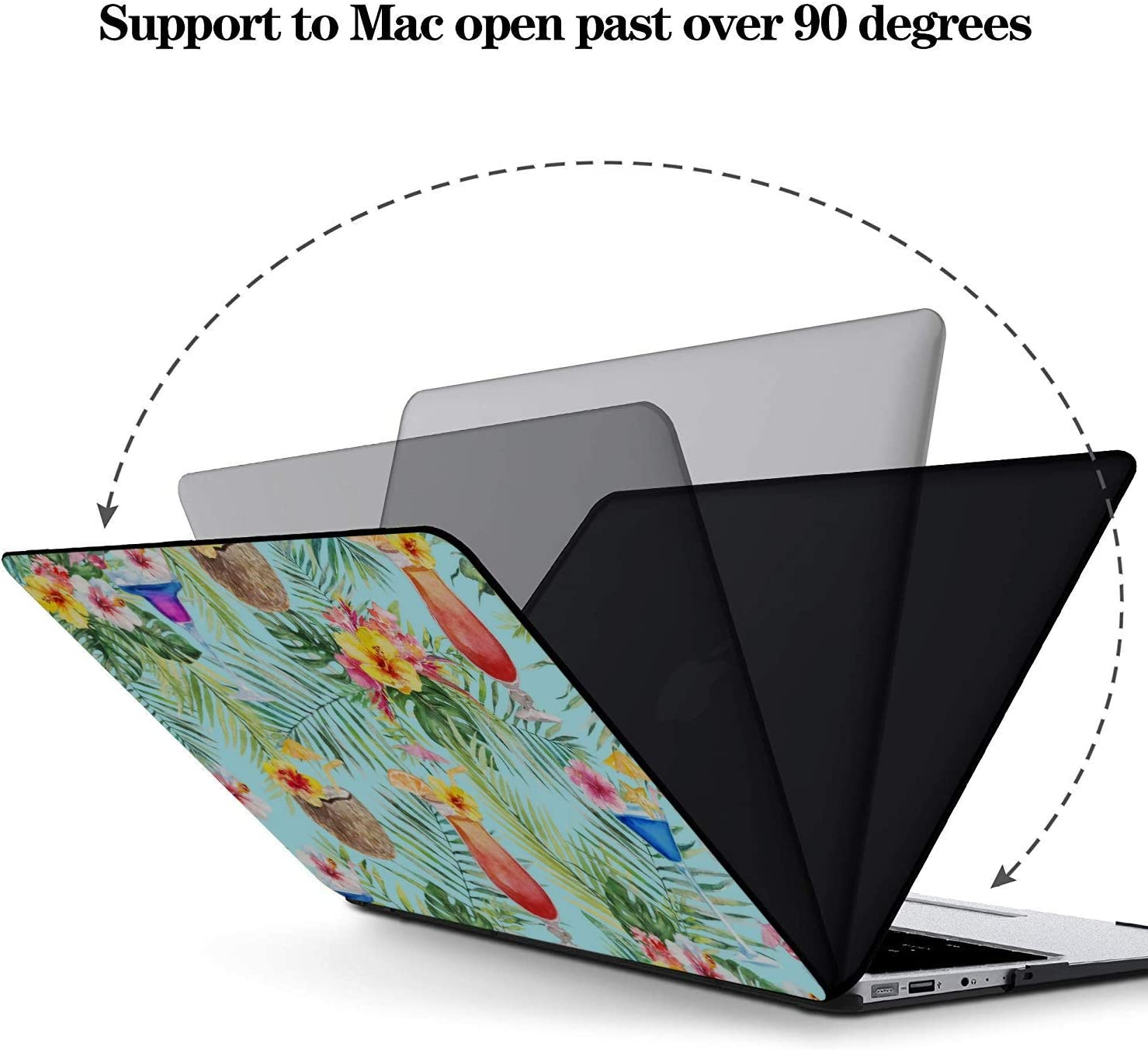 MacBook Pro Accessories Summer Sweet Cool Watermelon Juice Plastic Hard Shell Compatible Mac Air 11 Pro 13 15 15 Inch MacBook Case Protection for MacBook 2016-2019 Version