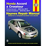 Honda Accord (03-12) & Crosstour (10-14) Haynes Repair Manual
