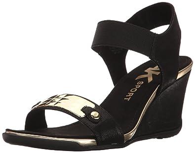 Anne Klein AK Sport Women's Latasha Fabric, Black, ...