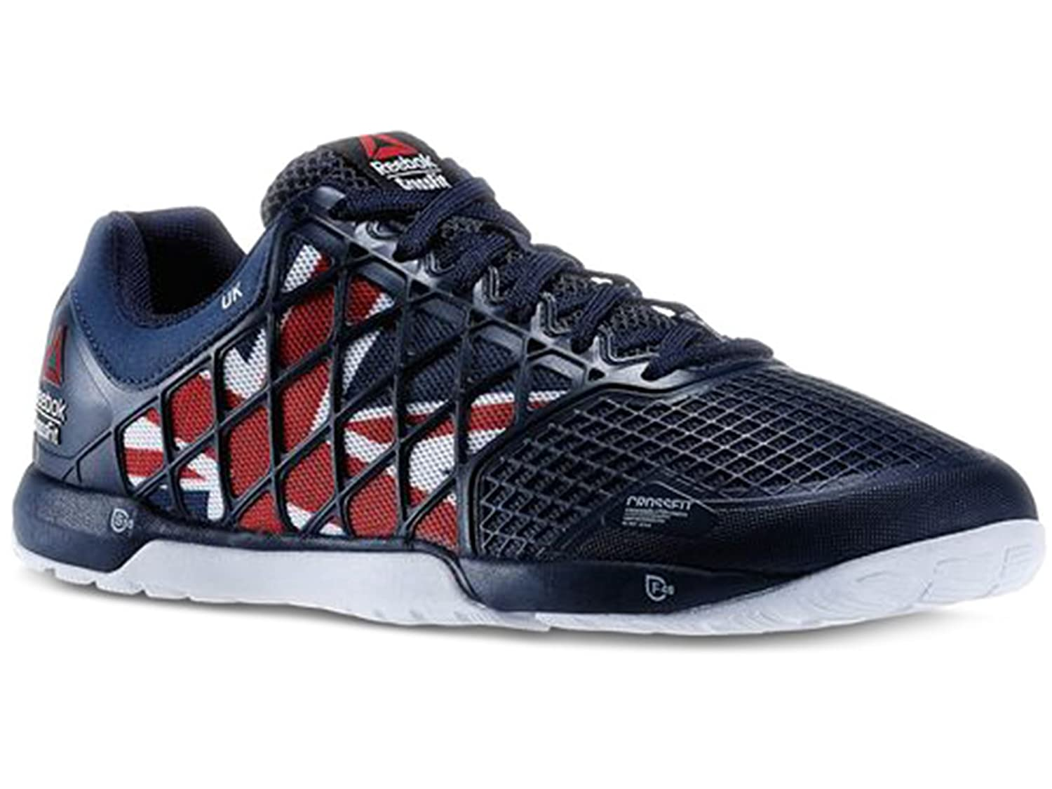 44efb3c3d Amazon.com | Men's Reebok Crossfit Nano 4.0 UK Flagpax Shoes Navy/Excellent  Red/White/Black M48449 Size 10 | Track & Field & Cross Country